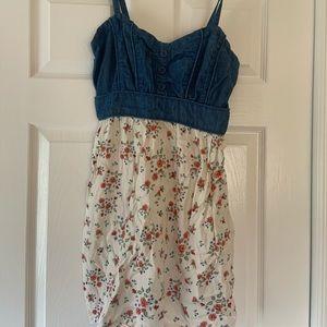 Rue21 Denim Top Floral Dress